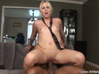 Small Tits Blonde MILF Interracial