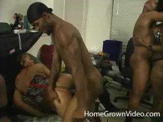Wild amateur ebony sex orgy