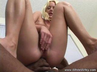 Blonde White Wifey Does BBC