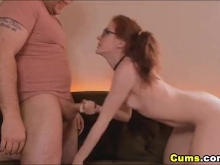 Nerdy Chick Gets a Wild Banging From BF