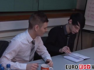 Skinny young Euros fuck after a meeting