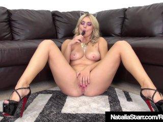 Kitty Cat Natalia Starr Dildo Fucks Her Purrfect Pussy!