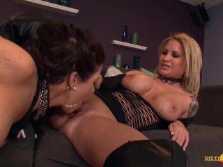 Busty MILF Daisy Monroe has Lynn Vega on her knees serving her needs
