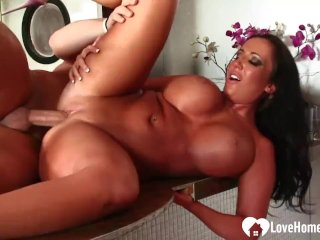 Sexy babe gets pounded in various positions