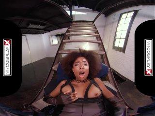 VRCosplayXcom Ebony Babe Domino Testing Your Superpowers In Deadpool XXX