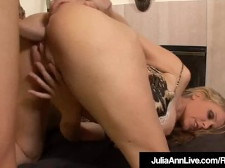 Titty Fucked Milf Julia Ann Gets A Big Cock In Her Pussy!