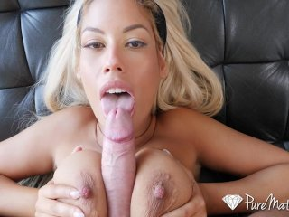PUREMATURE Mature busty blonde DRILLED by big dick