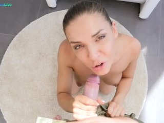 Juicy babe Henessy takes it into her tight pussy and asshole