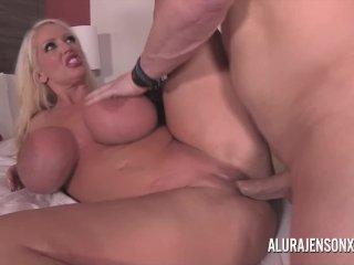 Big tit blonde Alura Jenson fucking a nervous client