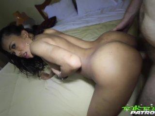 Tuk Tuk Patrol – White cock fucks pretty Thai babes pussy and asshole