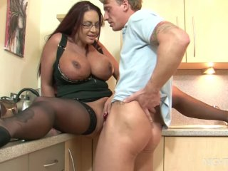 Kitchen sex with my busty StepMom!