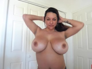See Monica Mendez how her new lingerie fits into her gigantic boobs