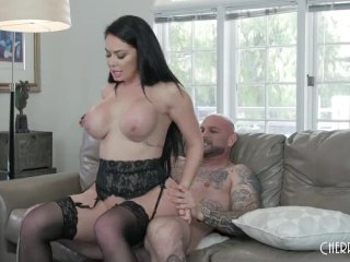 Big Ass And Big Tit Black Hair Babe With Brooke Beretta Gets Fucked Hard