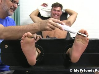Restrained jock endures all sorts of tickling sessions