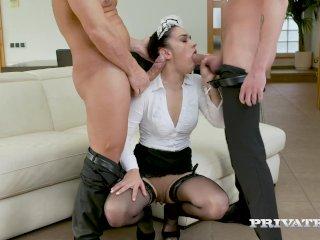 Private – Magnificent Maid Ginebra Bellucci Does 2 Cocks