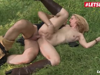LETSDOEIT – Hot Blonde French MILF Ass Fucked In The Forest