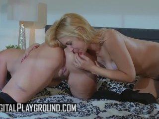 Big tit pornstars Sarah Vandella & Gia Paige finger – Digital Playground