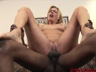 Blonde babe Darryl riding hardcore after sucking off BBC