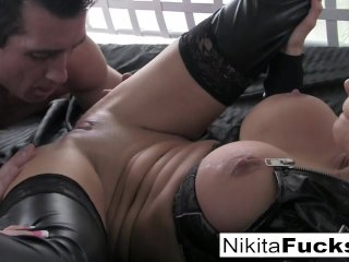 Busty Nikita Von James Fucks a big cock