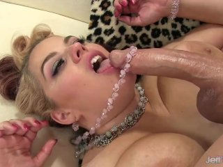 Fat Hottie Buxom Bella Puts Her Big Natural Jugs and Plump Pussy to Work