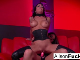 Red room and red strap-on action with Alison Tyler