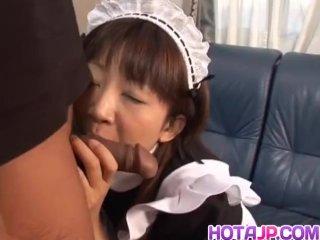 Japanese milf Ami Kitajima sucks on a fat juicy cock – More at hotajp com