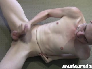 AmateursDoIt – Hung twink strokes big dick and cums after strip tease