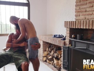 BEARFILMS Bald Cub Ale Tedesco Rides Daddys Hairy Cock