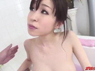 Miina Kanno gets busy with dick in the soapy ba – More at Japanesemamas com