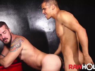 RAWHOLE Inked Rick Paixao Fucks Mouth Before Raw Doggystyle