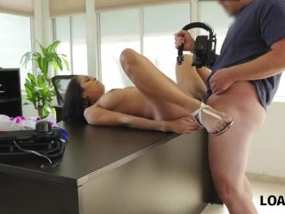 LOAN4K. Unemployed bitch sells her beautiful body to the loan agent