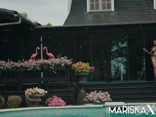 MARISKAX Mariska gets stuffed by black dick outside
