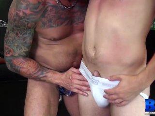 BREEDMERAW Inked Hunk Hugh Hunter Barebacks Slutty Bottom