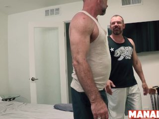 MANALIZED Hairy Daddies Max Sargent and Peter Rorsh Fuck Raw