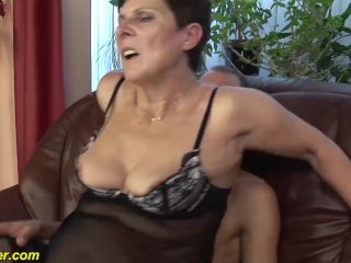 mature gets big cock toy boy fucked