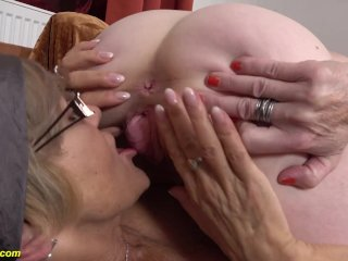 prolapse granny cunt licked by girlfriend
