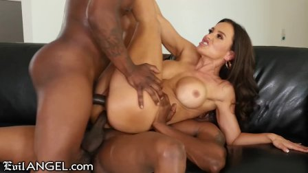 EVIL ANGEL Lisa Ann MILF Interracial DP + Ass Fuck 3Way Hot Sex
