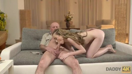 DADDY4K. Dad talks a lot with Jessi then seduces her for hard sex