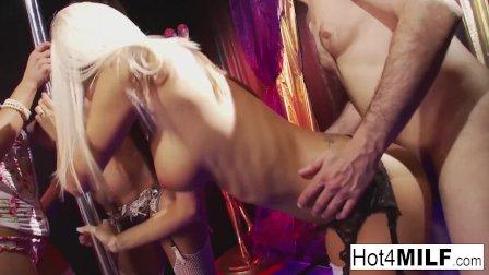 Hardcore group sex fun with four super sexy sluts!