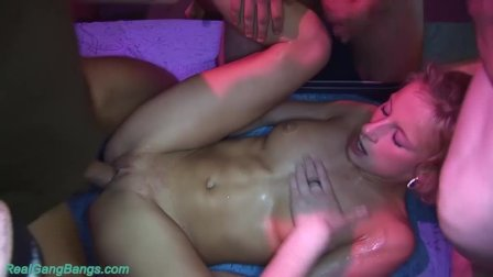 her first rough group bang orgy