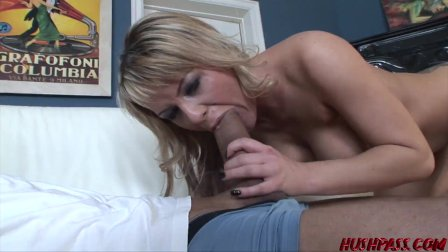 Babe Megan Monroe seduced by monster cock and hammered