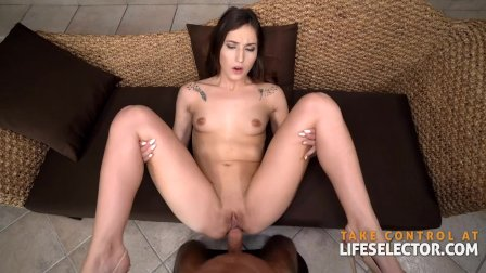 Slutty step-sis Mina K lives out her anal fantasies with step-bro