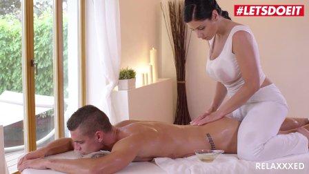 Relaxxxed - Alex Black Busty Oiled MILF Erotic Massage Titfuck - LETSDOEIT
