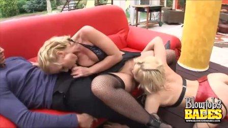 Lingerie Clad Kathia Nobili And Britney Blowjobs