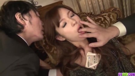 Mei Haruka loves office porn with two horny men - More at 69avs com